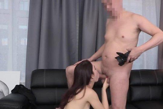 Увлекательный трах с русской девушкой на порно кастинге