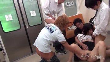 Хулиганы насилуют азиатку в вагоне метро на конечной