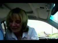 Любительская съёмка минета в машине