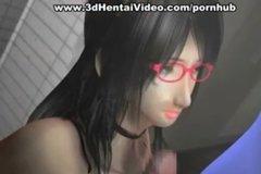 Половой контакт с грудастой телкой в очках порно мультик